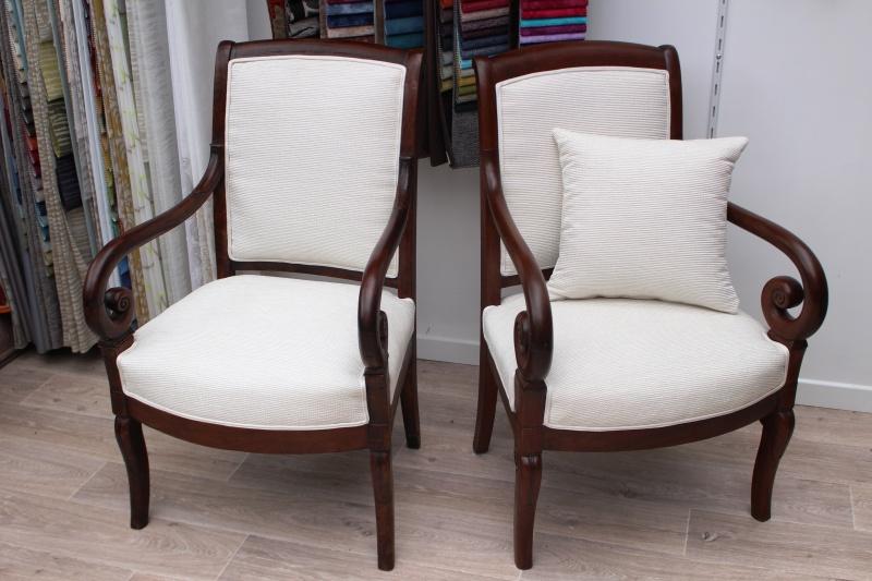 fauteuils style restauration atelier tapissier la kabana nanou. Black Bedroom Furniture Sets. Home Design Ideas
